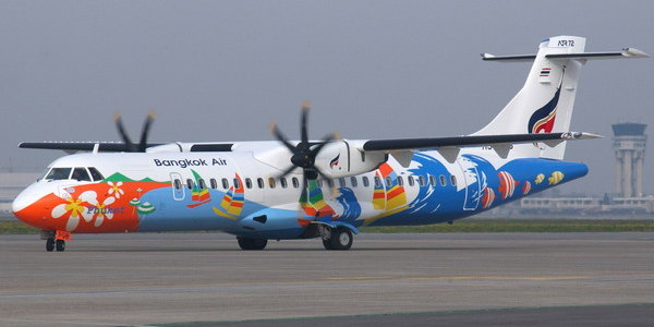 bangkok-airways-at-trat-airport-for-koh-chang-1a