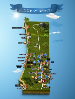 Carte-plan-lonely-beach-village-MAP