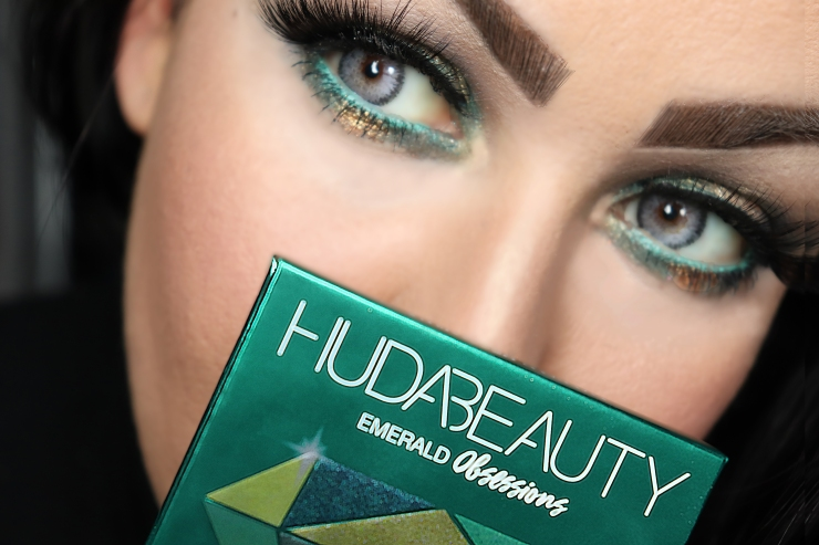 HUDABEAUTY PALETTE EMERALDOBSESSIONSPALETTE MAKEUP TUTO TUTOMAQUILLAGE