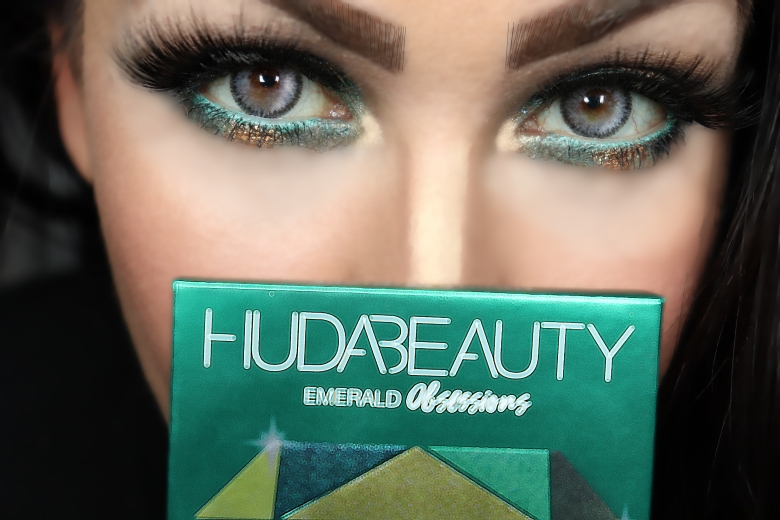Huda Beauty PALETTE Huda Beauty EMERALD OBSESSIONS PALETTE MAQUILLAGE MAKEUP